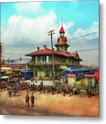 Train Station - Louisville And Nashville Railroad 1912 Metal Print