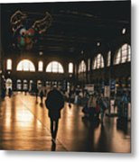 Train Station Sunset Metal Print