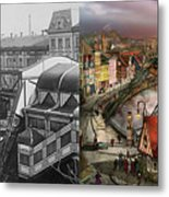 Train Station - Wuppertal Suspension Railway 1913 - Side By Side Metal Print