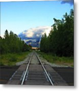 Train Tracks Anchorage Alaska Metal Print