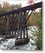 Train Tracks Over The Winnipesaukee River Metal Print