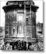 Train Waiting In Atchison Kansas Metal Print