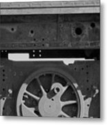 Train Wheel Metal Print