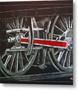 Train Wheels 4 Metal Print