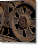 Train Wheels At Eckley Village Metal Print