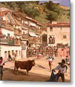 Training Fight In Biscay Metal Print