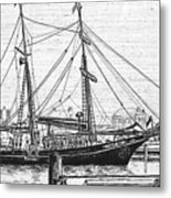 Training Ship Tabor Boy At Woods Hole Town Dock Metal Print