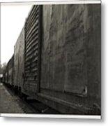 Trains 12 Platinum Border Metal Print