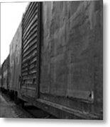 Trains 12 Blkwht Metal Print