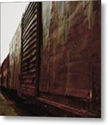 Trains 12 Retro Metal Print