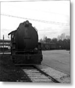 Trains 3 Blkwht Metal Print