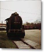 Trains 3 Retro Metal Print