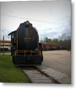 Trains 3 Vign Metal Print