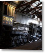 Trains 3007 C B Q Steam Engine Metal Print