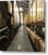 Trains Ancient Iron In The Barn Metal Print