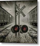 Trains Crossing Metal Print