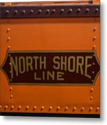 Trains North Shore Line Chicago Signage Metal Print