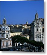 Trajan's Column Church Of Santa Maria Di Loreto Church Of Our Lady Giclee Rome Italy Metal Print