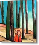 Trampling Through The Woods Metal Print