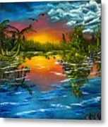 Tranquil Lake Metal Print