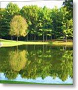 Tranquil Landscape At A Lake 2 Metal Print