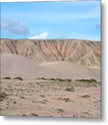 Tranquil Qinghai Desert Mountain In China Metal Print