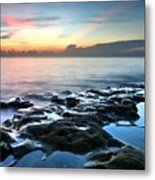 Tranquil Sunrise At Coral Cove Beach Metal Print