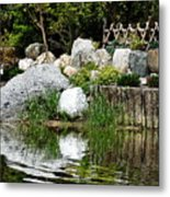 Tranquility In The Japanese Garden Metal Print