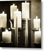 Tranquility Of Candlelight Metal Print