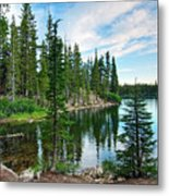 Tranquility - Twin Lakes In Mammoth Lakes California Metal Print
