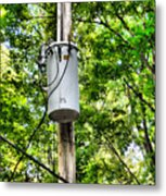 Transformer And Power Lines Metal Print