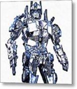 Transformers Optimus Prime Or Orion Pax Graphic  Metal Print