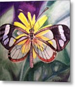 Transparent Butterfly Metal Print