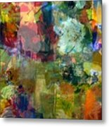 Transparent Layers Two Metal Print