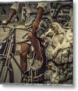 Transport By Bicycle In China Metal Print