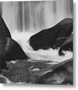 Trap Falls In Ashby Ma Black And White 6 Metal Print
