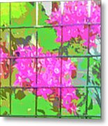 Trapped Flowers Metal Print