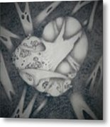 Corrupted Heart Metal Print