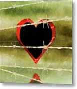 Trapped Heart Metal Print