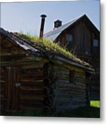 Trappers Cabin Clydesdale Barn Metal Print