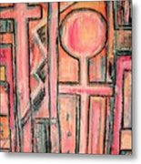 Trappings Of Love Abstract Art Painting  Metal Print
