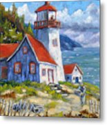 Traps And Lighthouse Metal Print