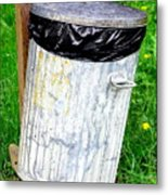 Trash Can Abstract. Metal Print