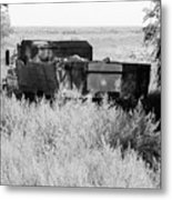 Trash Truck Metal Print