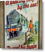 Travel By Train Metal Print