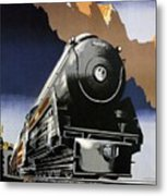 Travel Canadian Pacific Across Canada - Steam Engine Train - Retro Travel Poster - Vintage Poster Metal Print