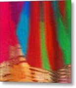 Travel Shopping Colorful Scarves Abstract Series India Rajasthan 1b Metal Print