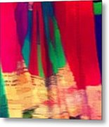 Travel Shopping Colorful Scarves Abstract Series Square India Rajasthan 1h Metal Print