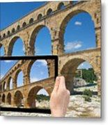 Travel To Pont Du Gard  Metal Print