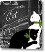 Travel With Your Cat Metal Print